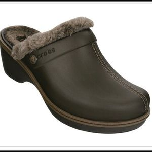 Crocs cobbler lined clogs